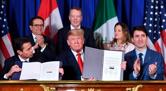 Today marks 365 days since @RealDonaldTrump signed the USMCA trade agreement. But House Democrats have been stalling it for months. #ImpeachmentEffect USMCA: ✅176K new jobs ✅$68.2B economic boost ✅Increased wages This is a win for America. Lets get it done.