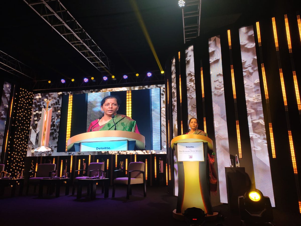 @nsitharaman @RBI Rs.2.5 lakh crore worth of loans disbursed in loan outreach programmes held during the weeks of navratras and diwali, says FM @nsitharaman at #ETAwards Track #latest updates here bit.ly/33vt07H Watch #LIVE here bit.ly/2rBcq9d