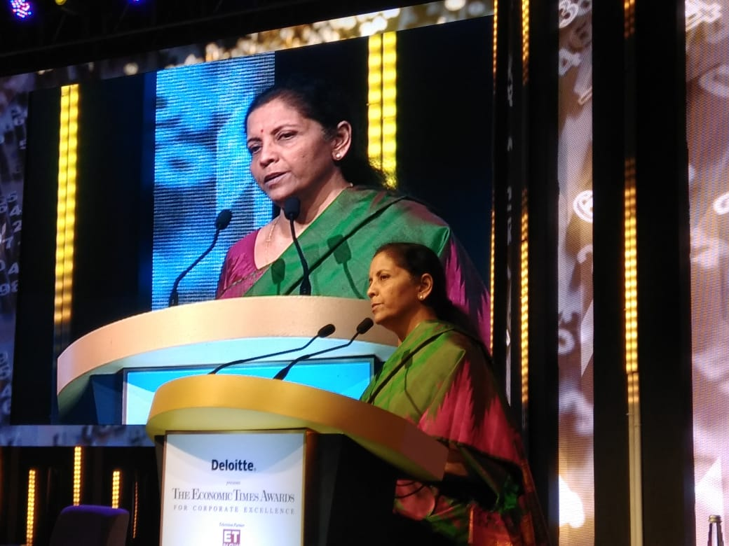 @nsitharaman @RBI A task force has already started contacting companies to shift back to India, already 12 in talks: @nsitharaman #ETAwards Track #latest updates here bit.ly/33vt07H Watch #LIVE here bit.ly/2rBcq9d