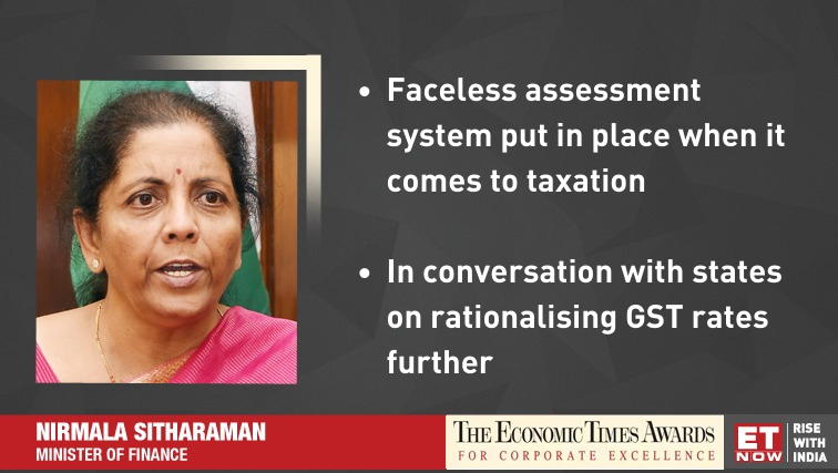 @nsitharaman @FinMinIndia @BJP4India @RBI #ETNOWExclusive | Working on further simplification of the #GST system, says #FinanceMinister @nsitharaman at #ETAwards 2019. @FinMinIndia @BJP4India