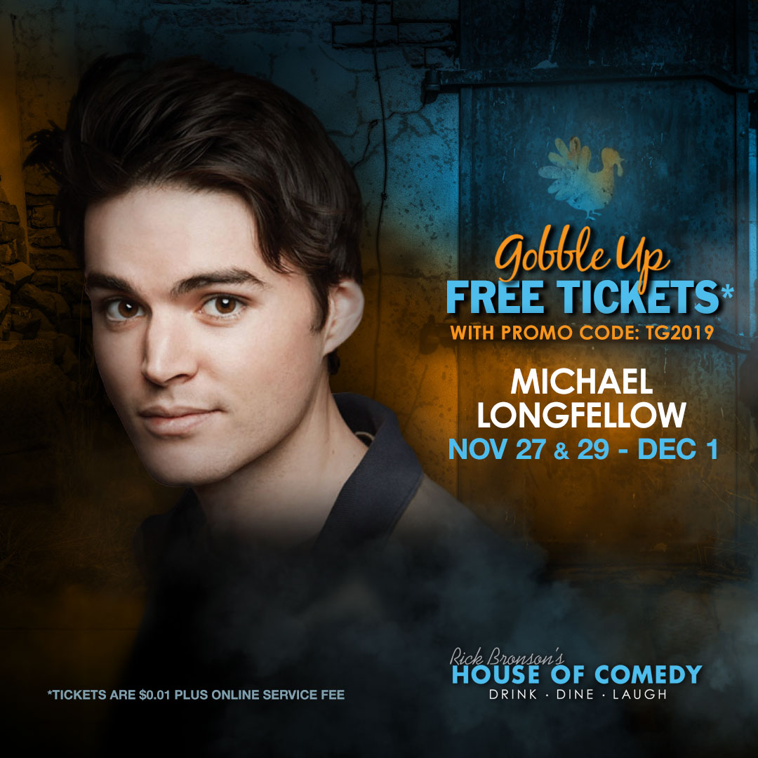 🦃THANKSGIVING SPECIAL 🦃- It's the time of year where @houseofcomedyaz on @highstreetaz Give Thanks to YOU - our Wonderful Customers. Use Promo Code TG2019 for your FREE TICKETS (Service Fees Apply) - & see @Longfellowww from #BringTheFunny - ℹ& 🎟: https://ecs.page.link/BC5p4