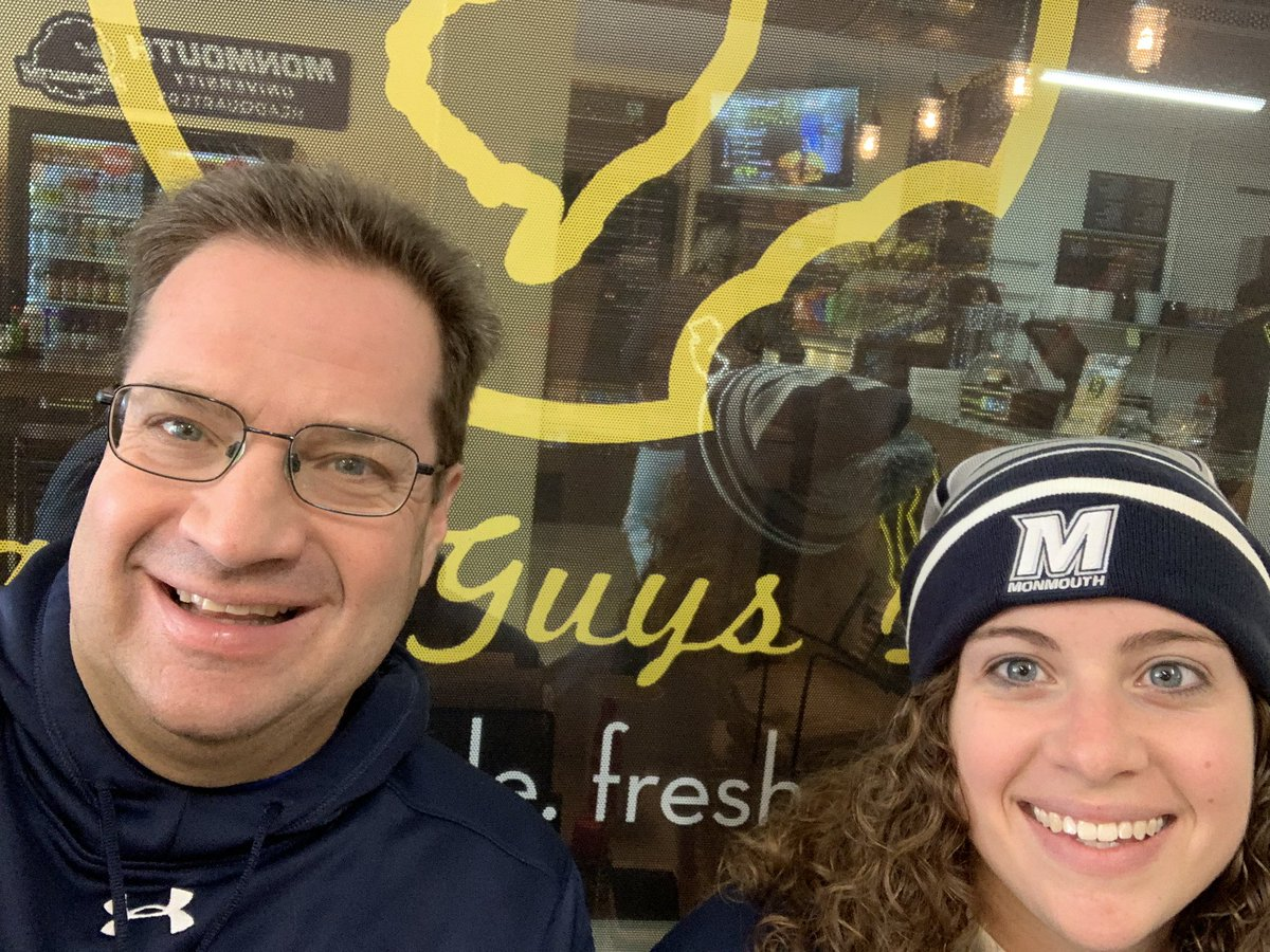 Nothing like starting the day at @BagelGuysDeli to get ready for the tailgate for Monmouth Football! #FlyHawks #BeatHolyCross