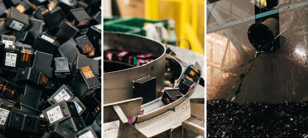 Zero-waste manufacturing: Plastic from spent ink cartridges are reused up to 12 times at this leading-edge recycling plant near Nashville ♻️.  #greenmanufacturing #recycling #sustainability