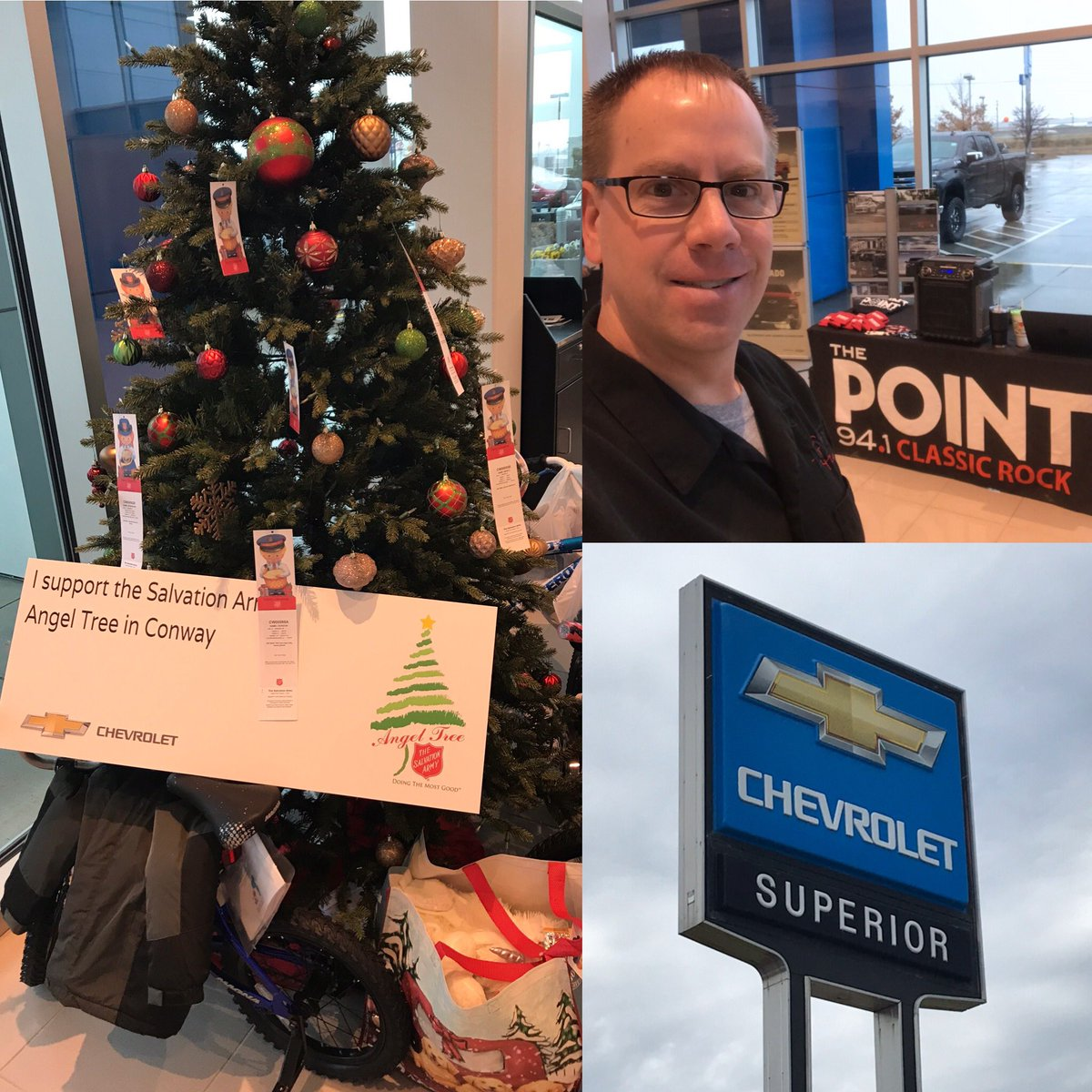 The Point 94 1 A Twitter Collecting Toys For The Salvation Army Angel Tree We Re At Superior Chevrolet In Conway Until 1pm Stop By And See Us Https T Co Zimefxe29b
