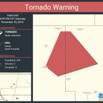 Image for the Tweet beginning: Tornado Warning including Dallas County,