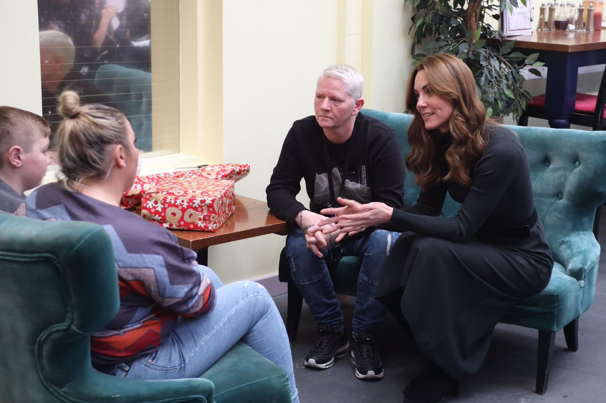 On #ABerryRoyalChristmas The Duchess of Cambridge and Mary Berry visit The Brink, the UK's first dry bar set up by @ActionAddiction to meet the inspiring people whose lives have been changed by the help and support of the charity.