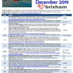 Image for the Tweet beginning: December events! PDF download available here: