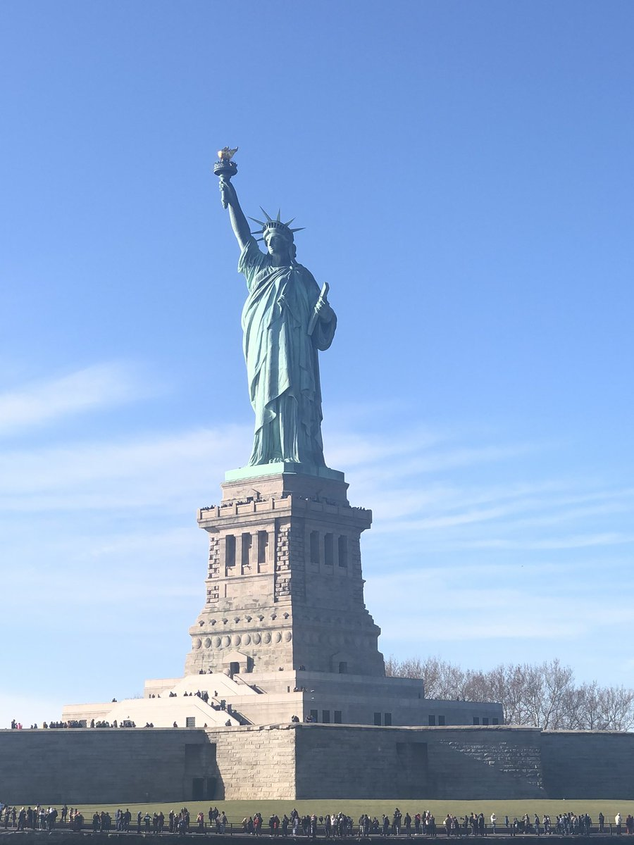 Are you even a history teacher if you don't take this pic in New York? My great grandparents first saw this coming in through Ellis Island #statueofliberty <br>http://pic.twitter.com/pfaIbWzl4c