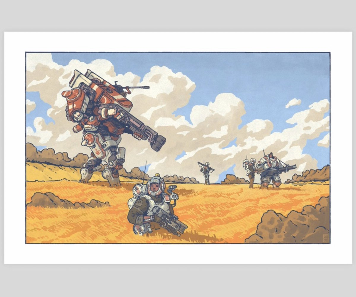 @Lancer_RPG is out! I had such a great time working on this project. The game owns bones and seeing my art up alongside so many superb artists is incredible I've posted a few of my pieces in my print store to celebrate this grand mech release! inprnt.com/gallery/badbuc…