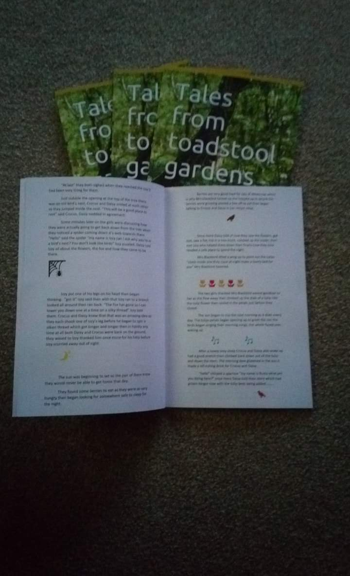 Just got my copies of my latest child's book #talesfromtoadstoolgardens #gdgarratt #book #newbook #mybook #childsbook #outnow #bookreaders #Kindleowner's #buyacopy #download #amazon #fairytales<br>http://pic.twitter.com/EcVyYfvn35