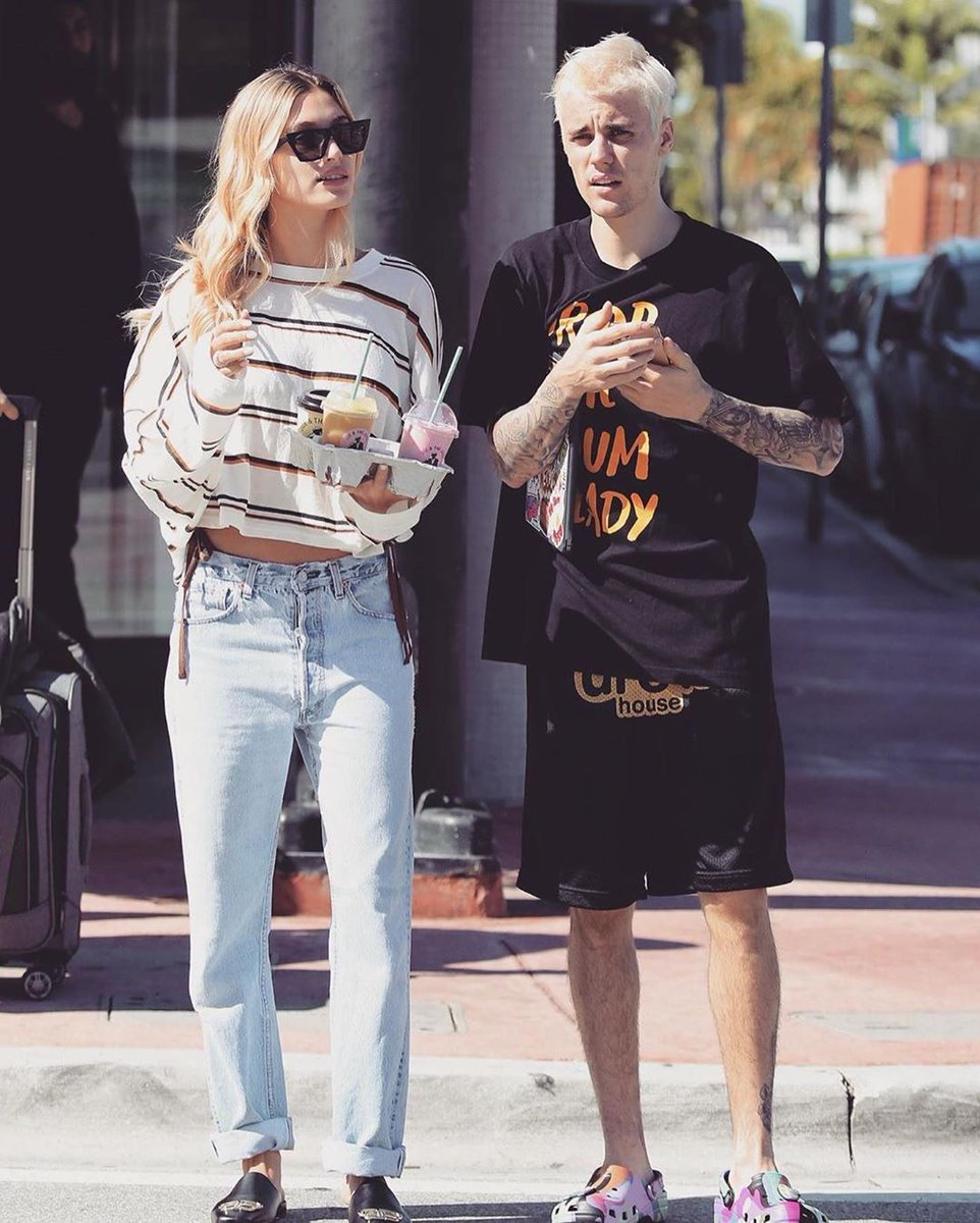 👀 @justinbieber with @haileybieber, rockin the ComplexCon x TM/KK x Crocs.