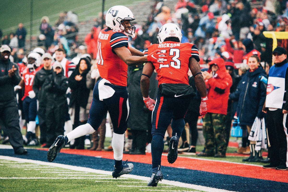 Liberty flames up 20-14 at halftime! #gameonlu