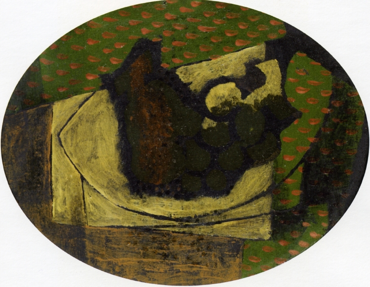 Still Life with Grapes, 1918 #braque #syntheticcubism <br>http://pic.twitter.com/o7hjuvMMUy
