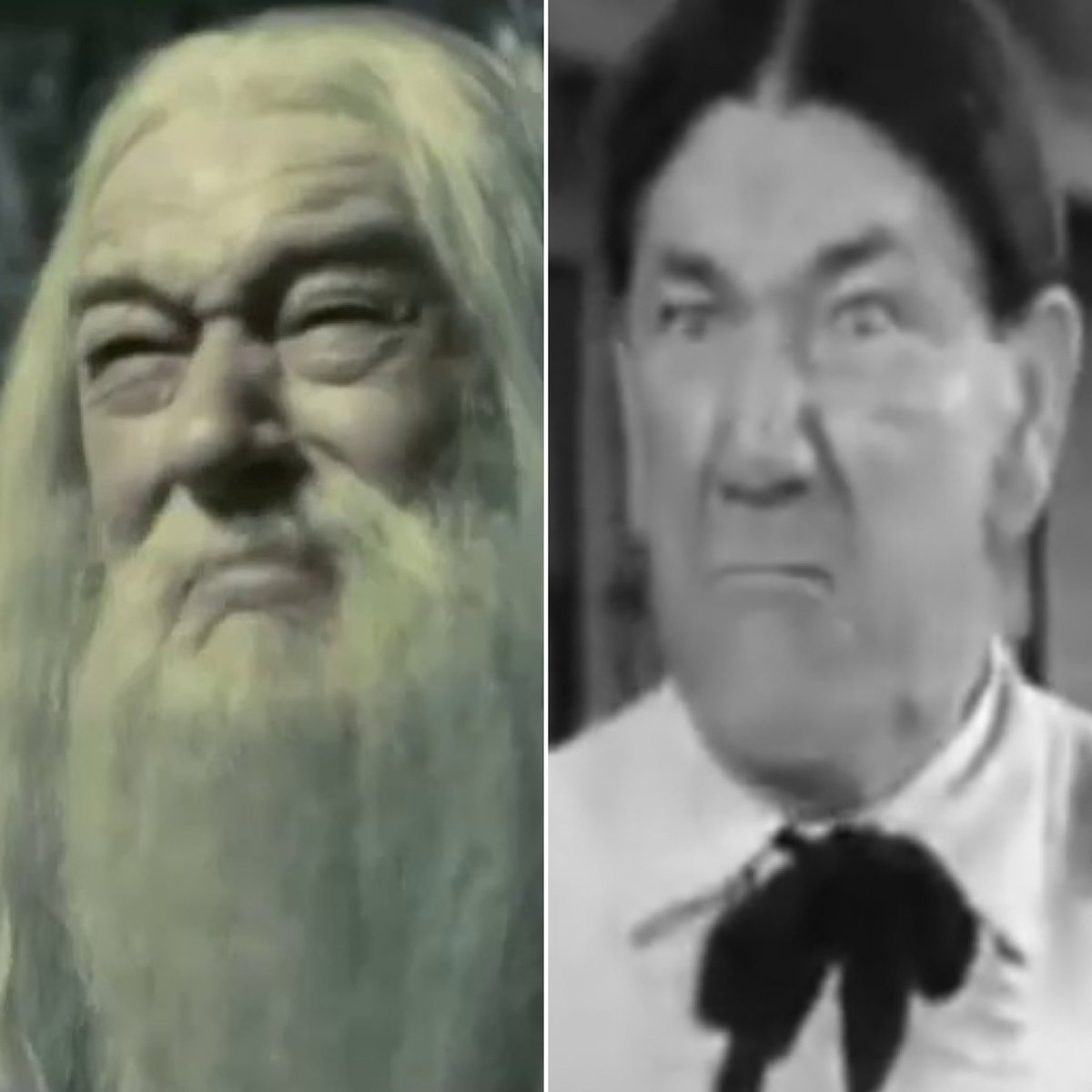 "I'm pretty sure the Drink of Despair in ""Half-Blood Prince"" turns Dumbledore into Shemp from the 3 Stooges."
