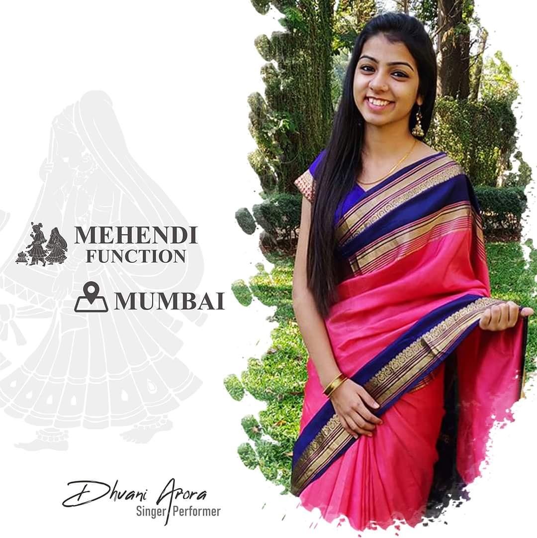 Mehendi function in Mumbai today !!#mehendi #function #wedding #work #mumbai #love #blessed #spreadhappiness #staypositive #dhvaniarora