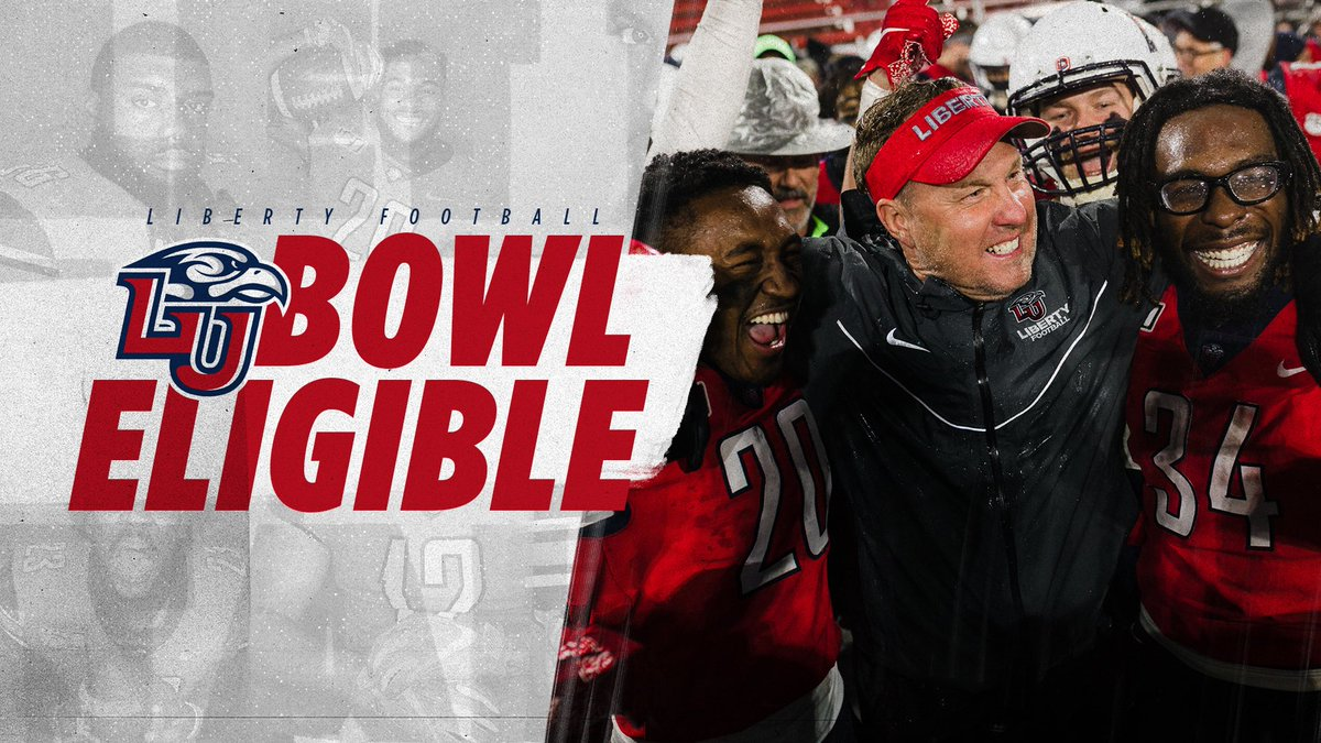 Makin' history. Your Flames are BOWL ELIGIBLE 🔥🎳 #TougherTogether More info: libertyflames.com/bowlcentral