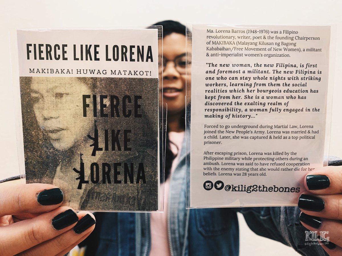 Fierce Like Lorena Sticker Packs available at @AnakbayanUSA Cultural Night @ GABRIELA USA table. Special price $3-5 sliding scale, 3 stickers per pack, sticker pack sales will be donated to @gabriela_usa campaigns #DefendWomen #DefendFilipinoWomen #DefendGABRIELA #LabanKabataanpic.twitter.com/WMbta4akgC