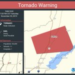 Image for the Tweet beginning: Tornado Warning continues for Canton