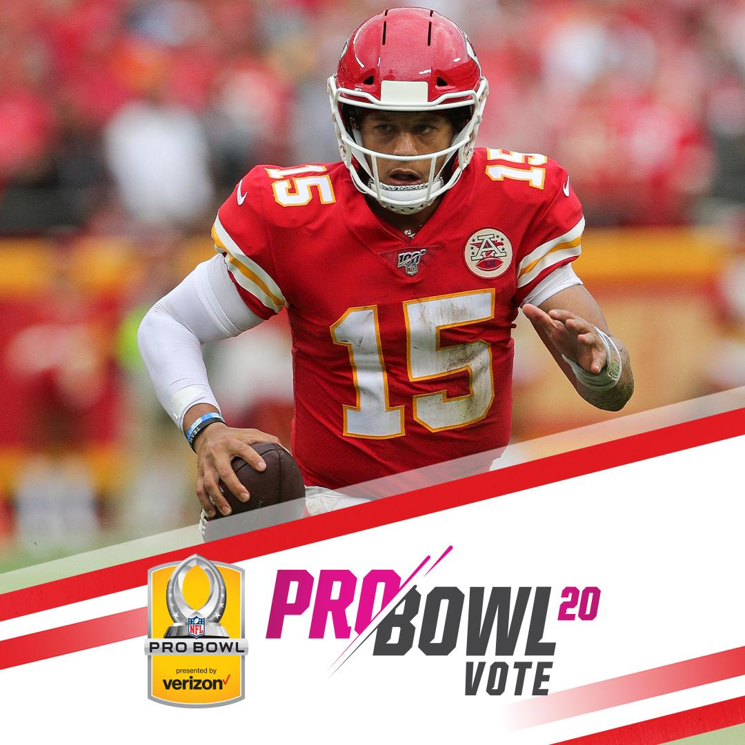 Use #ProBowlVote to send your favorite players to the 2020 #ProBowl! Tweet #ProBowlVote + one of the following: 1. First Name + Last Name 2. Twitter handle 3. Full name as a hashtag