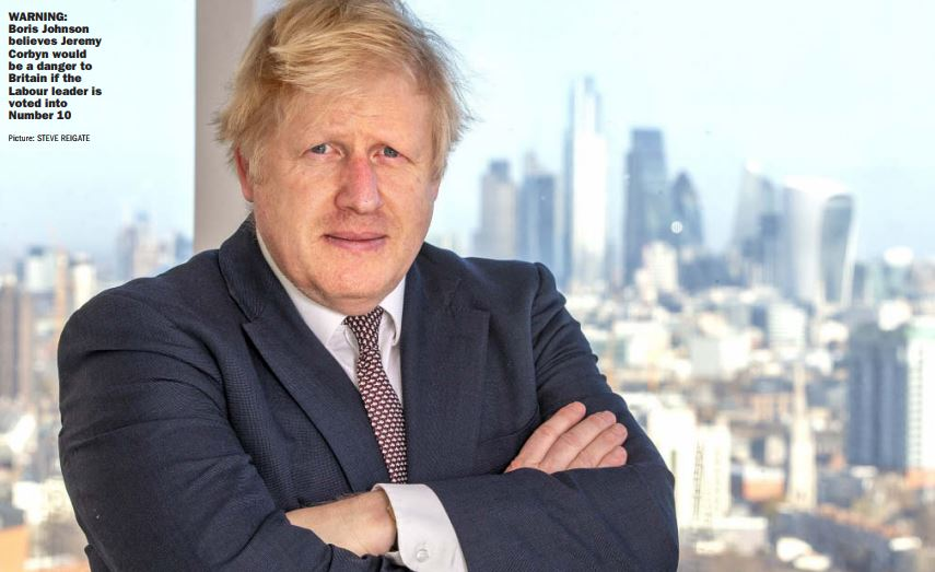 RT @johnestevens: Boris Johnson looks like a contestant on the Apprentice in Sunday Express interview picture https://t.co/s3m8ijqTvs