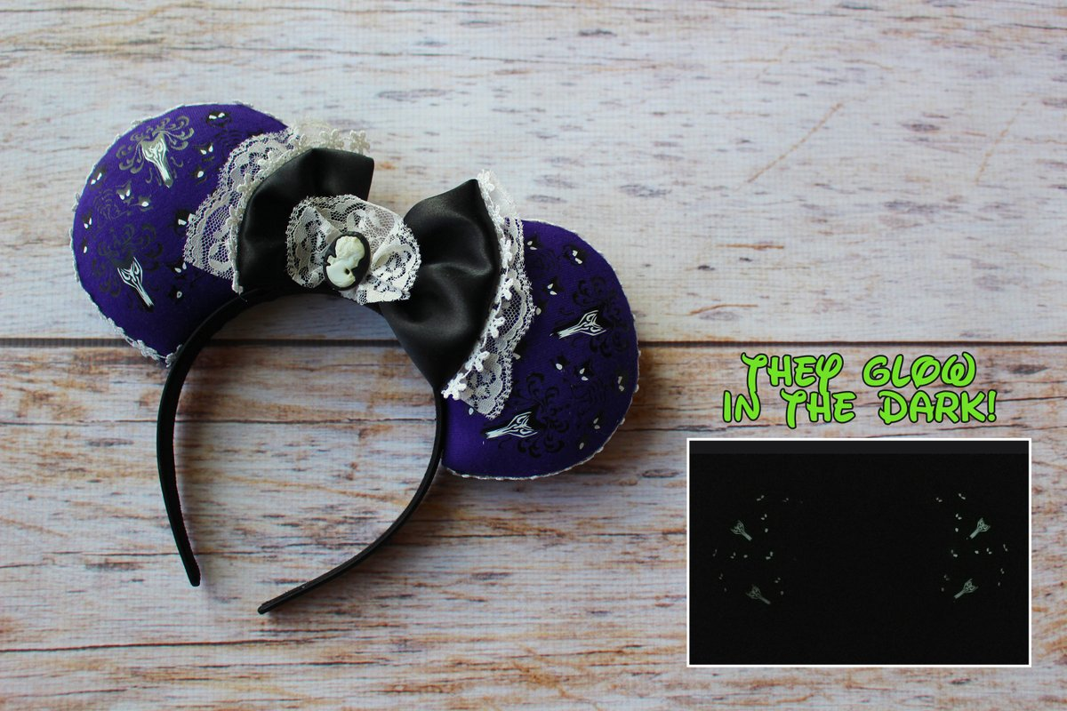 Haunted Mansion Mouse Ears,Jack Mouse Ears,Mickey headband,Minnie Mouse Ears,Glow in the Dark,Mickey Ears,Custom Ears,Haunted Mansion  #disneyears #toystoryforkyears