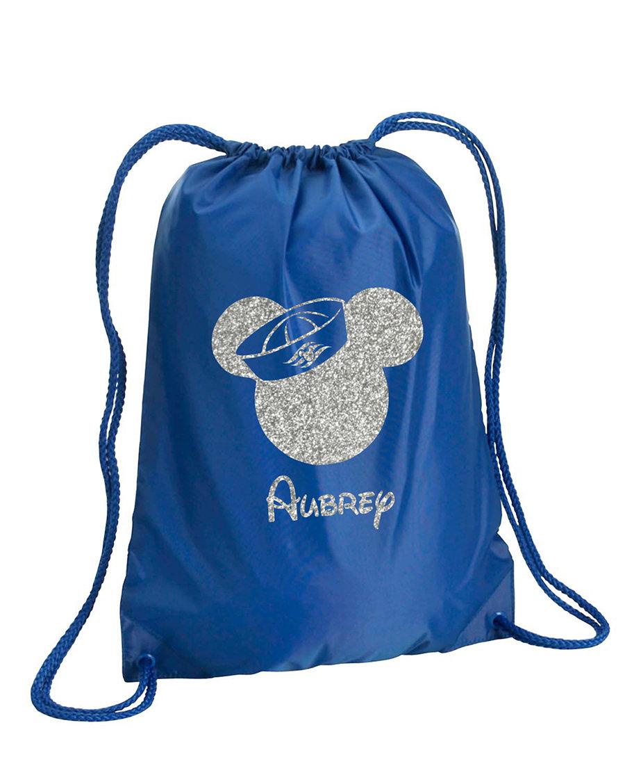 Glitter Sailor Mickey bag,Mickey Mouse drawstring bag,Mickey Cruise sling bag,Mickey backpack,vacation bag,Cheer Bag,Disney Cheerleading Bag  #disneyears #toystoryforkyears