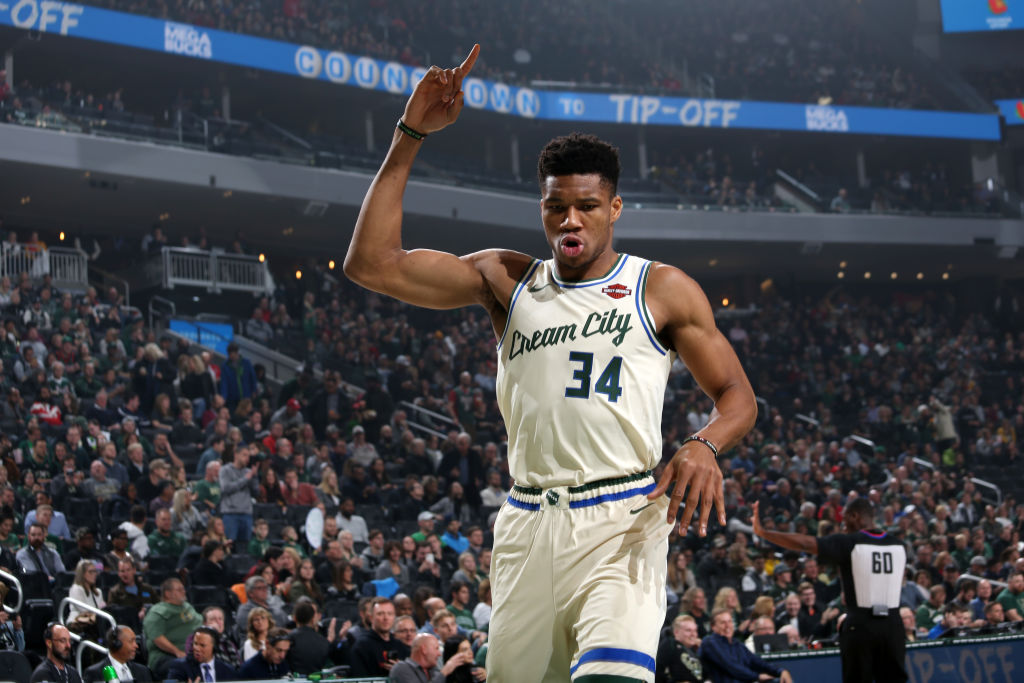 Giannis Antetokounmpo is averaging 30.9 PPG, 13.4 RPG, and 5.9 APG in the @Bucks 20 games. He is the first player in @NBAHistory to average at least 30PPG/13RPG/5APG in the first 20 games of a season.
