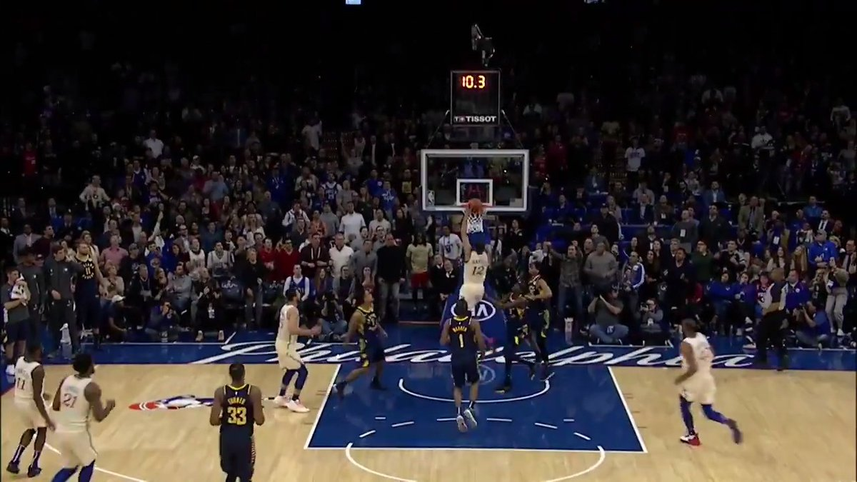 Ben Simmons makes a huge steal late in the game to set up Tobias Harris for your Heads Up Play of the Day!