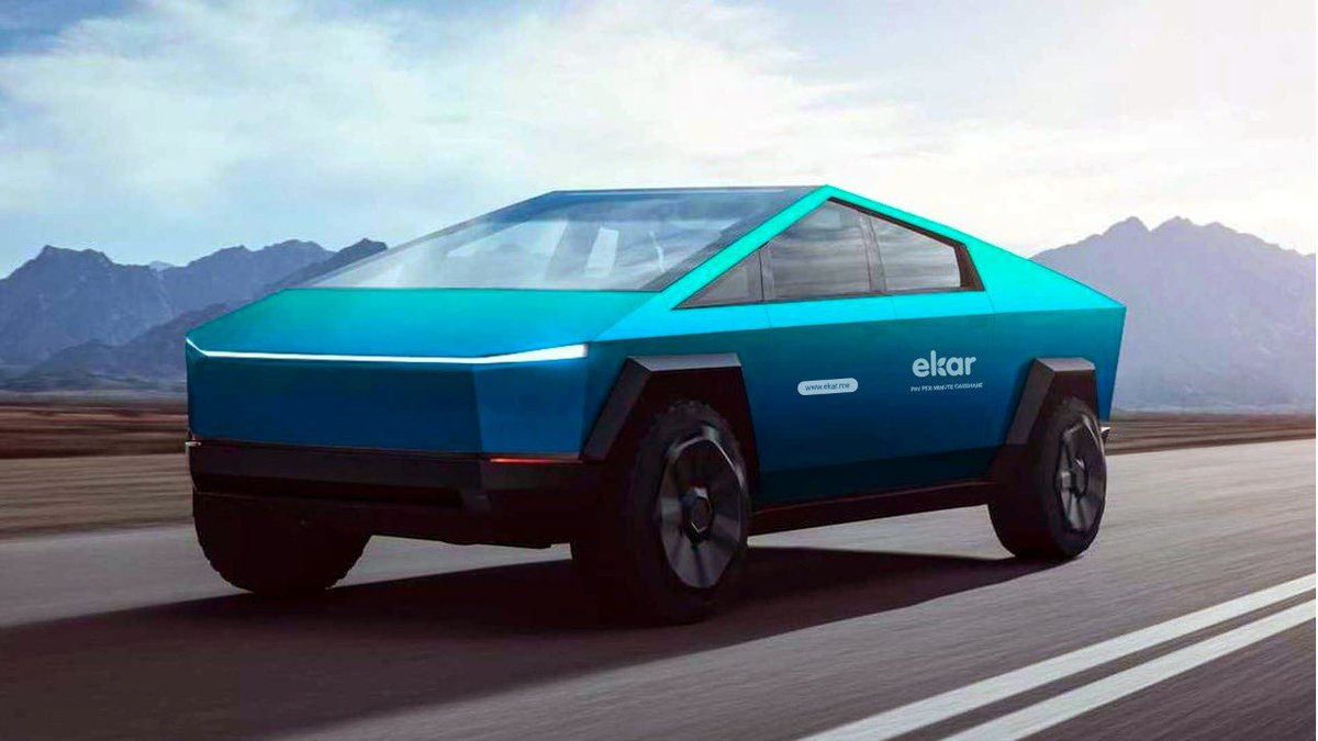 It's official! #ekar will be the first @Tesla carshare in the world! We've placed our order for the Tesla Truck! #Tesla #TeslaCyberTruck https://t.co/2REvVTYpq4