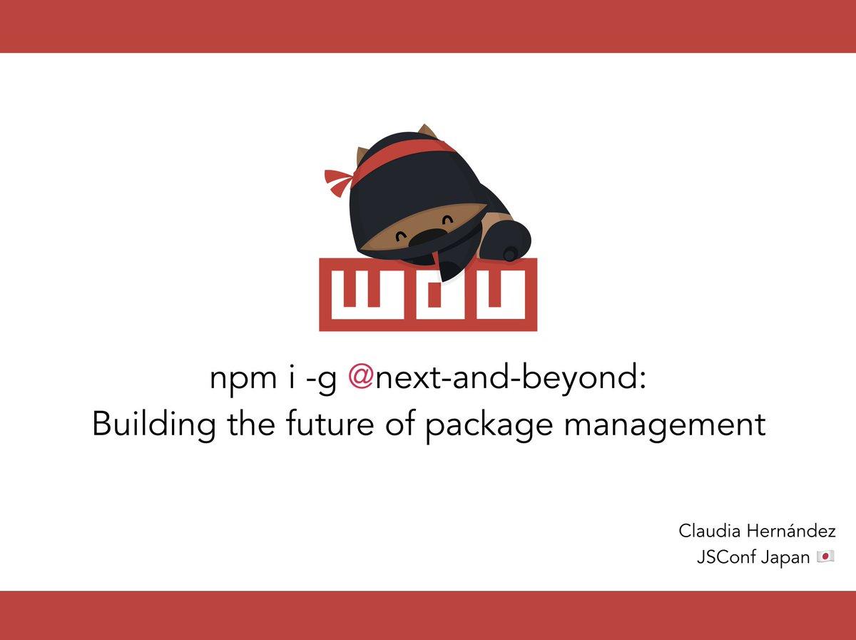 こんにちは @jsconfjp!Here are the links I shared on my talk today ✨npm statusboard: npm github project board:Enjoy!