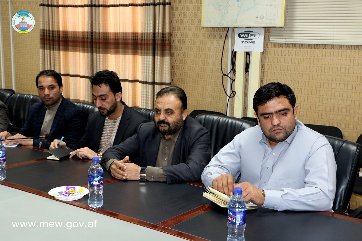The visitation of Water Deputy of Ministry of Energy and Water with Helmand Governor and head of the Helmand offshore. Click the link for more info https://www.facebook.com/MEW.AF/posts/2519940414789990…