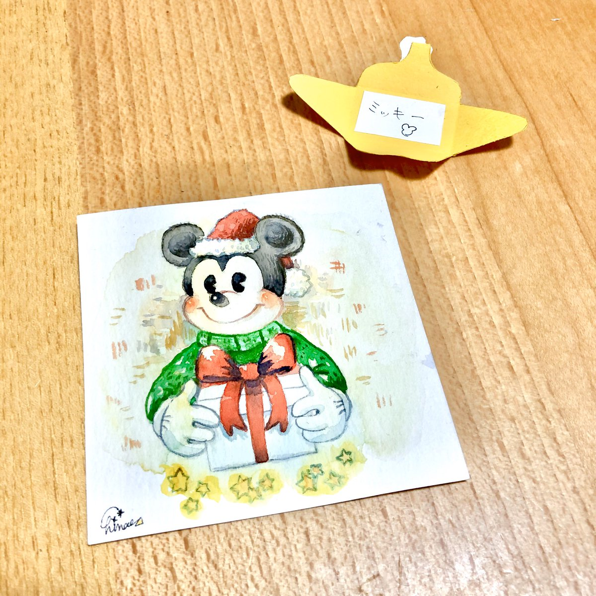 ট ইট র Chinae 12月1日のイラスト クリスマス ミッキー イラスト イラストアドベントカレンダー アドベントカレンダー 水彩画 絵描きさんと繫がりたい