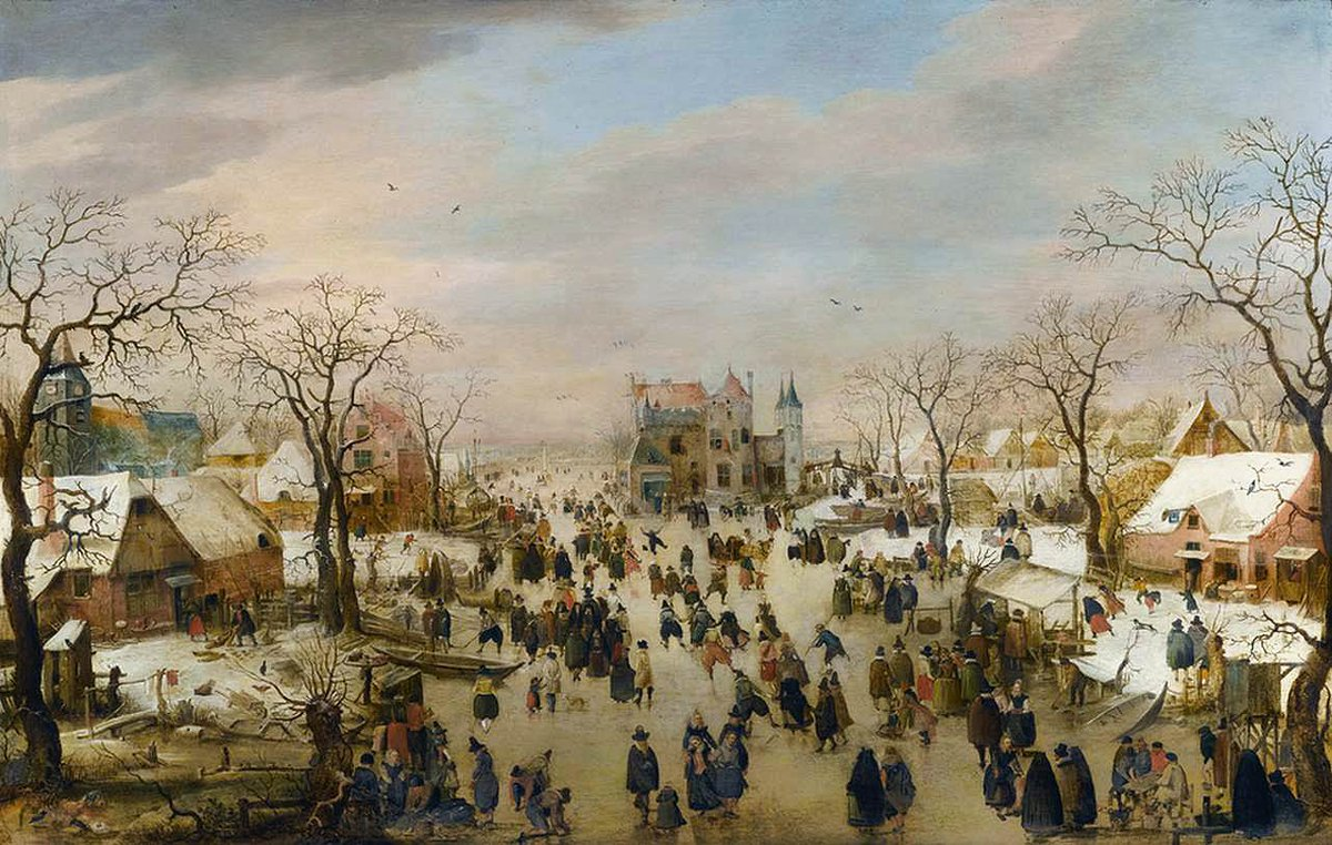 Day 1 of The Seventeenth Century Lady's #17thCentury Advent Calendar A bustling winter wonderland scene here for you by Hendrick Avercamp: 'A Panoramic Winter Landscape', c. 1610. Look at all the amazing detail!  <br>http://pic.twitter.com/WbquNv6ZRX