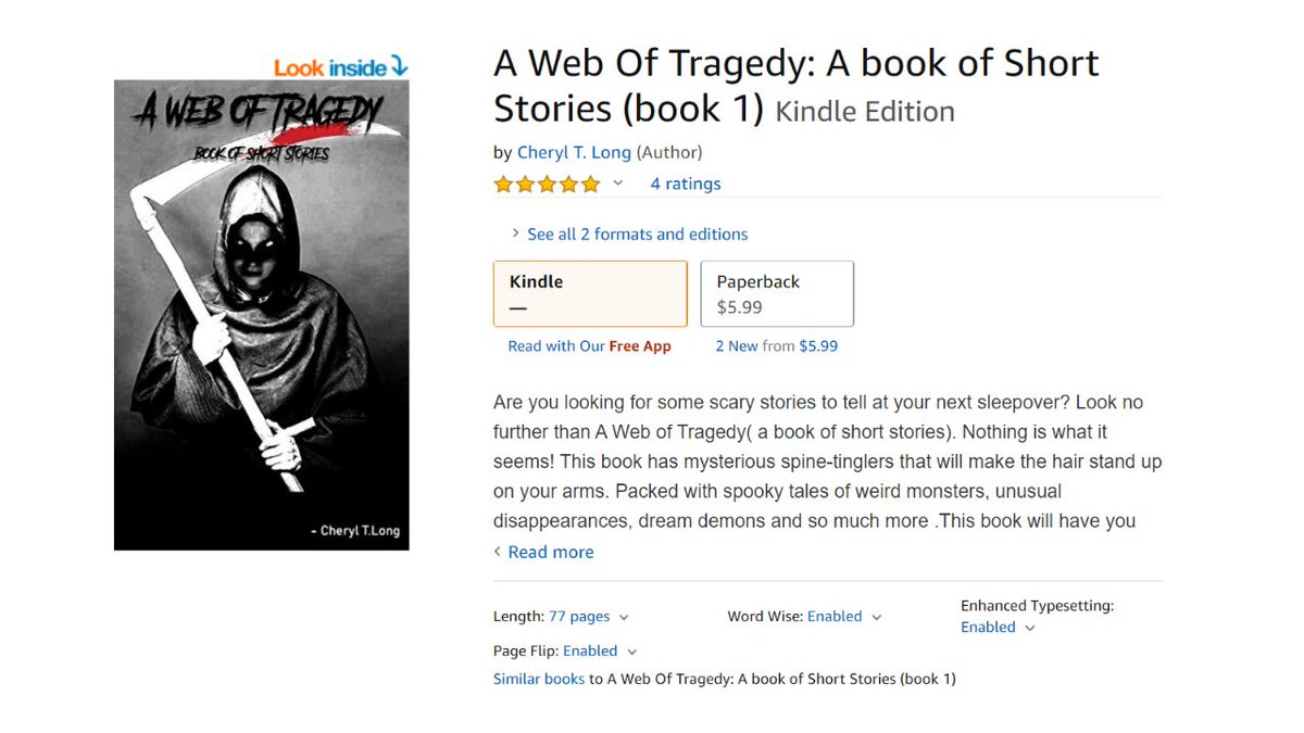 A Web Of Tragedy __Cheryl T Long Blogger and Author  Available on Amazon e-book and Goodreads Amazon:https: https://www. amazon.com /   …/prod…/B07ZG731VL/ref=x_gr_w_bb_sout  #BookReaders #booklover #bookish #bookaholic #motivationalbook #motivationalbookreview #motivationalblogger<br>http://pic.twitter.com/9fac3rDDn0