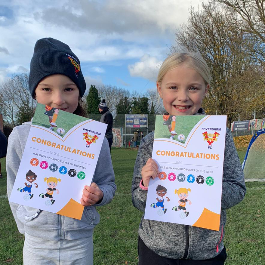 Well done to Wildcats of The Week for our younger group, Lula and Roo!  Is your daughter looking to make friends and play football?   Every Sunday  10-11am   info@favershamStrikeForce.co.uk <br>http://pic.twitter.com/VOsXfsk7Ak
