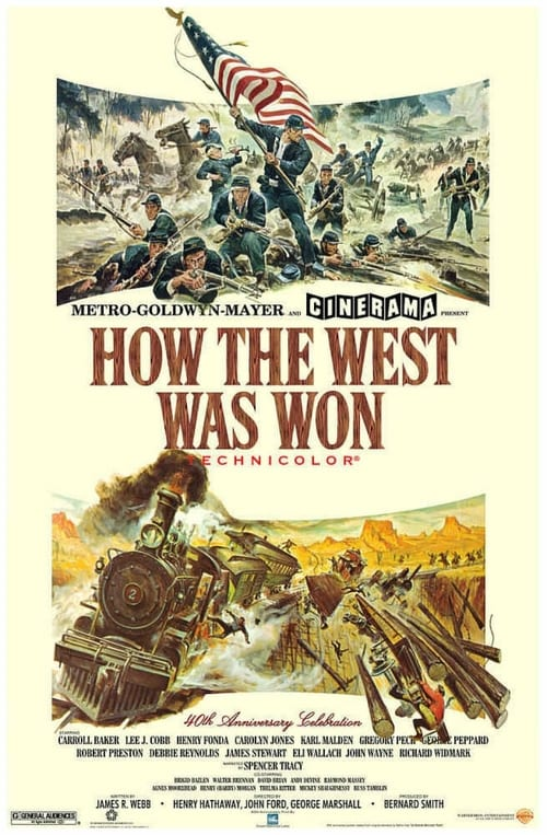 Over five decades four generations of American settlers win & lose fortunes, survive bandits, wars & nature to build motorway. Sprawling epic  #HOWTHEWESTWASWON @ITV4 12:30pm https://t.co/uY7veiUVUx