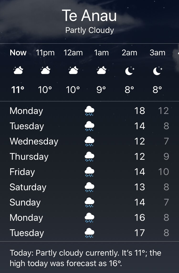I guess it will be raining on Saturday for the Kepler Challenge   Good news it wont be hot #keplerchallenge #NZtrailracepic.twitter.com/YzX1yjpSEL