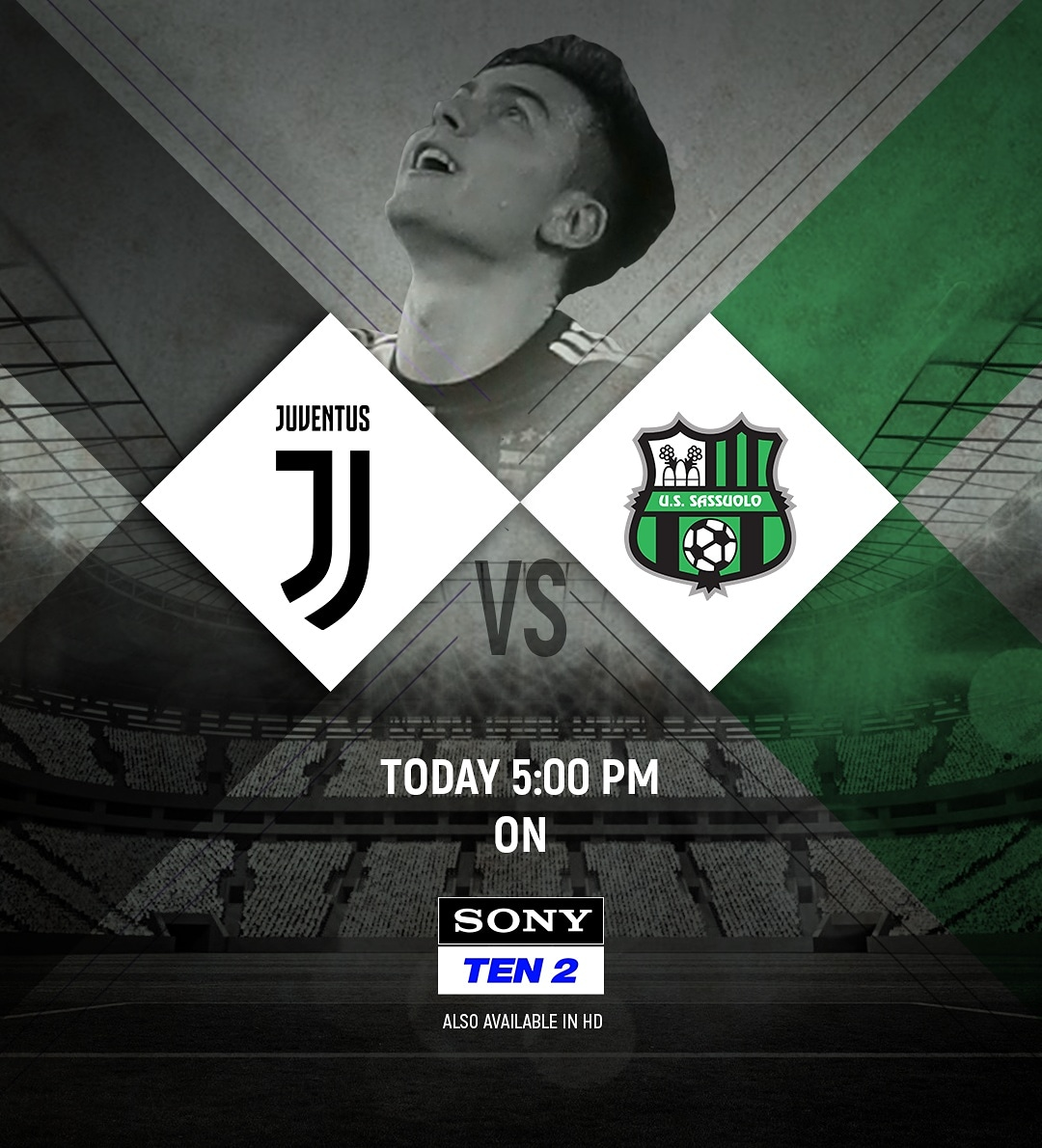 Following a decent Champions League week, Juventus are back in action in Serie A.  Watch them LIVE only on SONY TEN 2 at 5:30 PM. . . . #SerieA  #SonySports  #paulodybala  #juventus  #juve  #cristianoronaldo  #football<br>http://pic.twitter.com/EaXBw4l02j