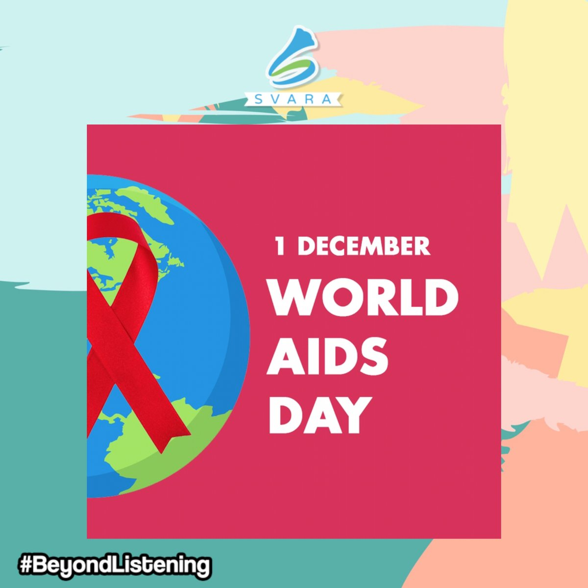 Mari lindungi orang-orang terdekat kita dari bahaya HIV/AIDS. Selamat memperingati hari HIV/AIDS sedunia. Jauhi penyakitnya, Bukan orangnya!! . . . #SVARA #beyondlistening pic.twitter.com/J4CK4jLCUk