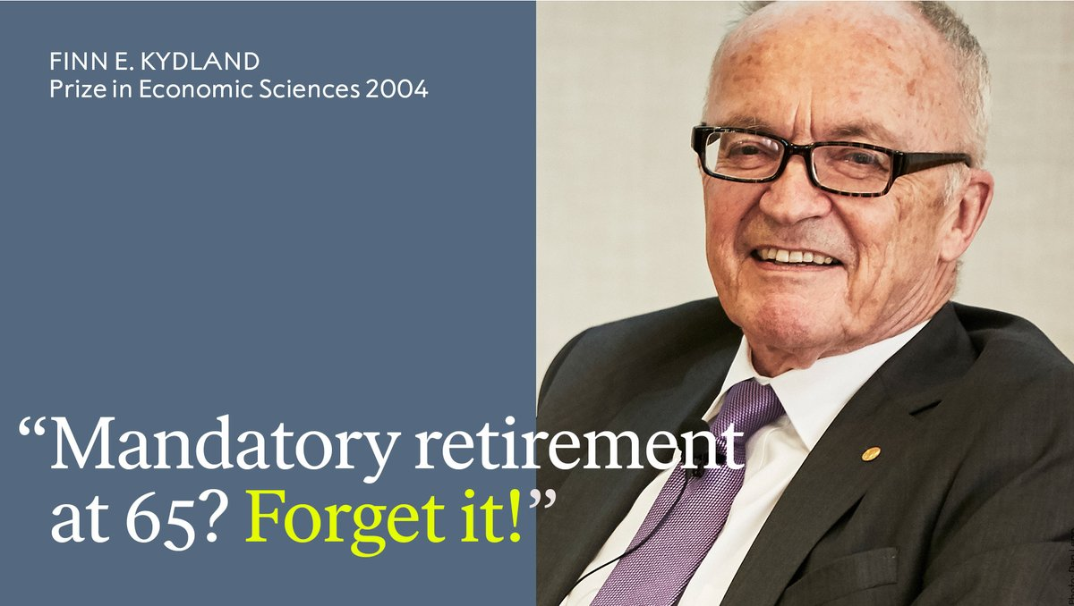 Should we have mandatory retirement at 65? Happy 76th birthday to economist Finn Kydland, who refuses to let age hold him back. The Economic Sciences Laureate emphasises the importance of promoting social activity among older people. Learn more: bit.ly/2Pya0lu