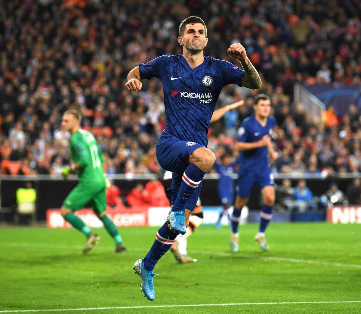 """In the summer I had this Chelsea jersey at home that was made for me when I signed.   ""I was wearing it around my house all the time - I just wanted to be here so bad, I wanted to get started because I was excited for the challenge, excited for everything about it.""  - Pulisic"