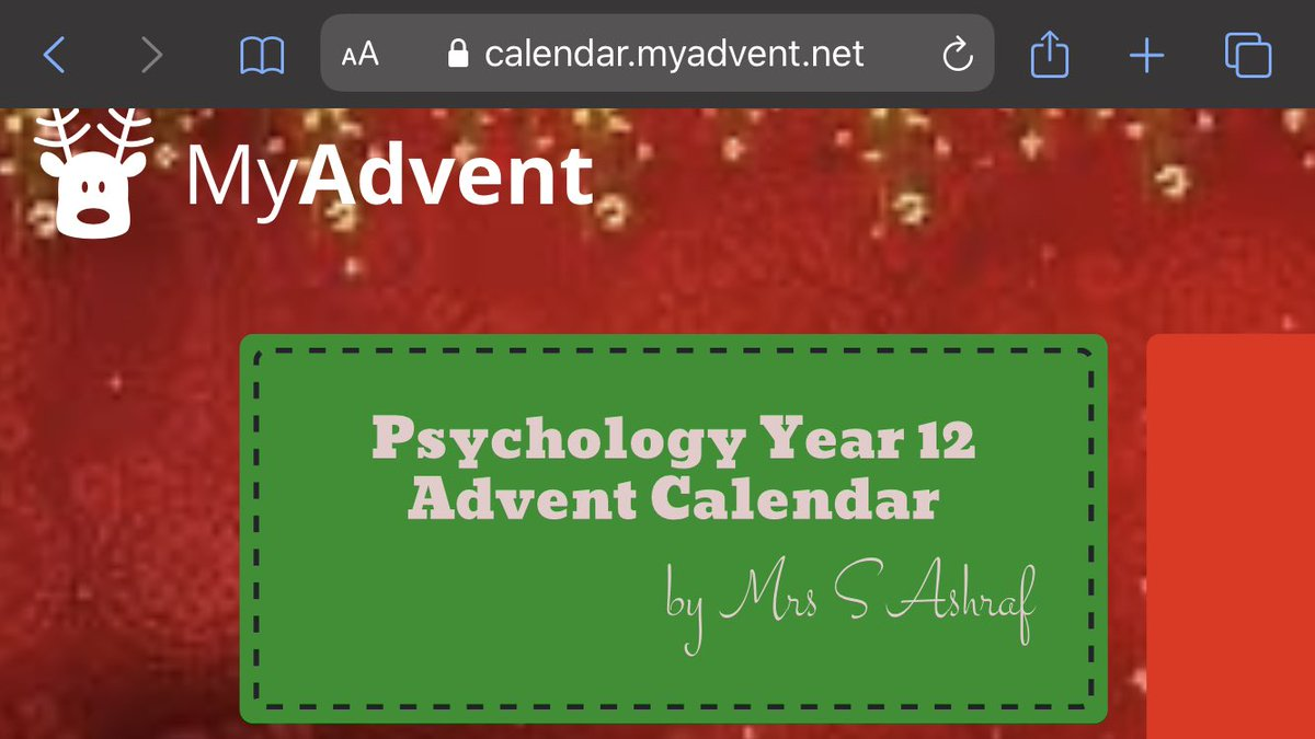 It's the 1st December. Don't forget to take part in the Christmas challenge! #psychology