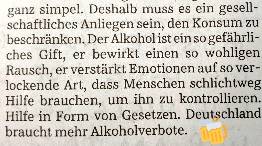 Urkonservatives Puritanertum in der Süddeutschen smh