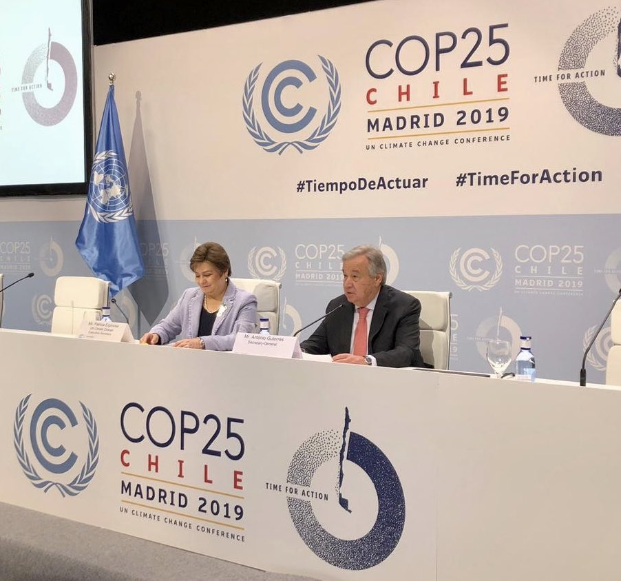 I expect a clear demonstration of increased #ClimateAction ambition & commitment out of #COP25. Leaders of all countries need to show accountability & responsibility. Anything less wold be a betrayal of our entire human family and all generations to come.