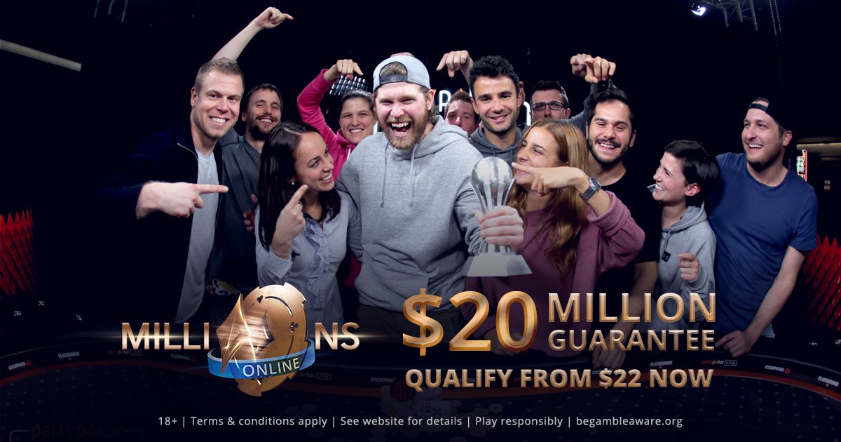 Want to win some partypoker Team Online #MILLIONSOnline action today? Just click here and see how you can get a percentage of the success, we hope, of @JeffGrossPoker, @jaimestaples and @TJDarroch.  https://bit.ly/2P29has 18+. Play responsibly. begambleaware