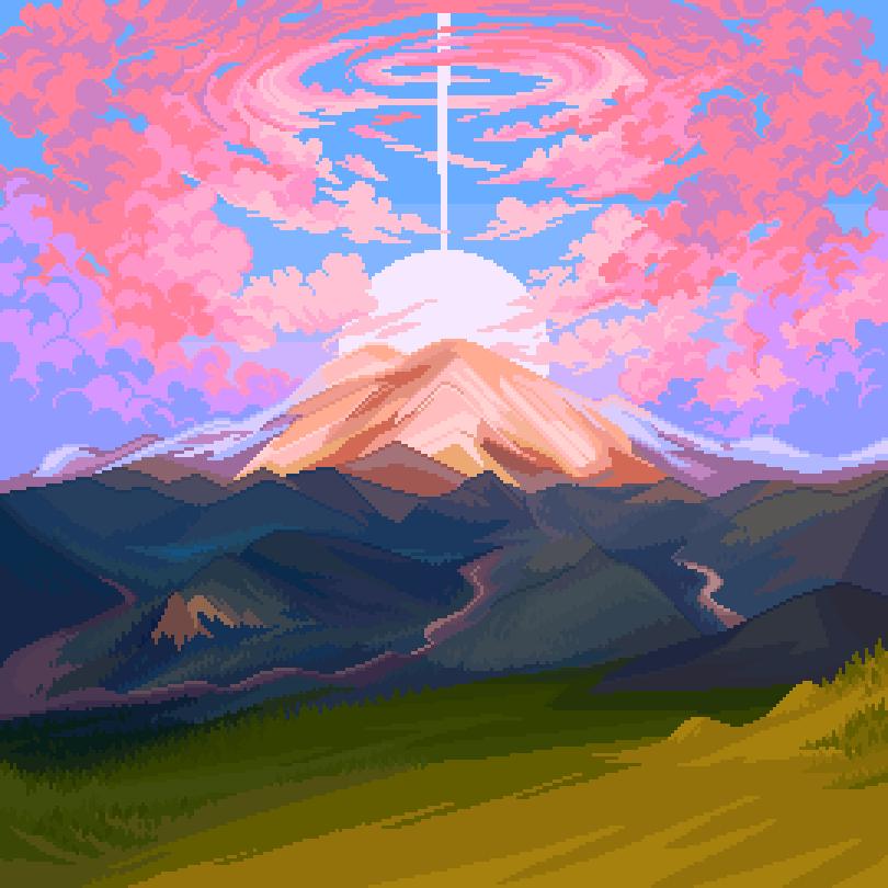 album art commission for @ayoshutduff !~ #pixelart