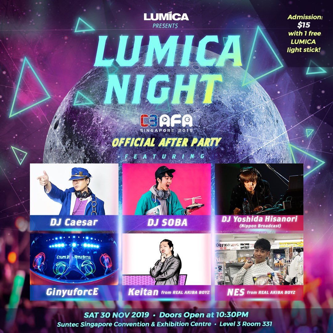 2019.11.30 C3 ANIME FESTIVAL ASIA OFFICIAL AFTER PARTY at SINGAPORE  制作補佐 キャスティング アソシエイトプロデュース  担当いたしました。 https://t.co/MKLm1E6Nsz