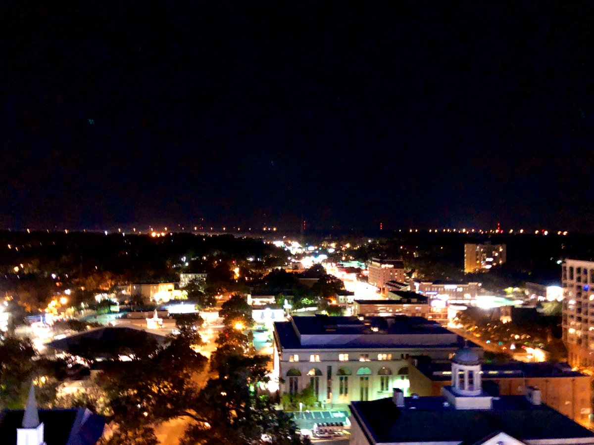 The view from Eve on Adams at @DoubleTreeTLH is pretty amazing. Great addition to Tallahassee.