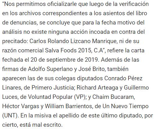 DIPUTADOS LAVADORES DE RO$TRO$@ArmandoInfo En la carta presentada el #9Oct por @adolfosuperlano y @JoseBritoR  aparecen las firmas del los Dip @ConradoPerezL @RichardArteaga @GuillermoLuces @ChaimOficial @HectorVUnidad @WBarrientosV