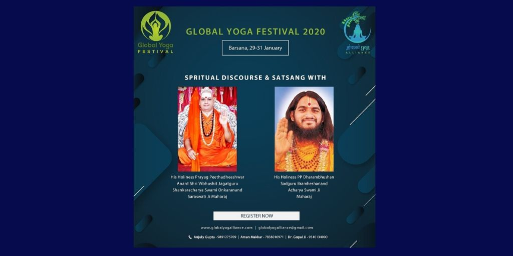 Spiritual Discourse and Satsang by leading gurus!Stay tuned for more#GlobalYogAlliance #GlobalYogaFestival #Barsana #UttarPradesh #Yoga #YogaFestival #Yogaeverydamnday